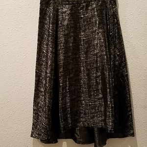 Lela Rose for HSN Silver and Black Skirt Sz10